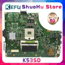 цены на KEFU For ASUS K53SD K53E A53S K53S P53E HM65 REV:2.3 laptop motherboard tested 100% work original mainboard  в интернет-магазинах