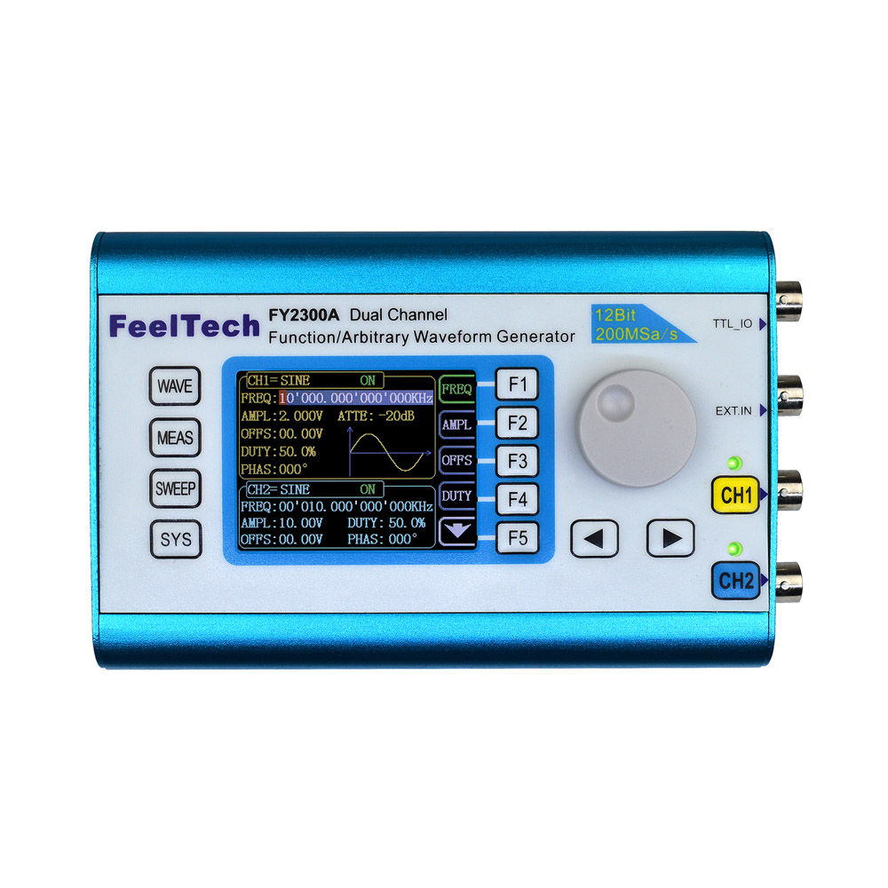 Digital Dual-channel Signal Generator High Precision DDS function generator Frequency Generator Arbitrary Waveform 200MSa/s 6MHz ad9910 high speed dds module output up to 420m 1g sampling frequency signal generator development board