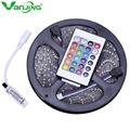 IP65 Waterproof RGB LED Strip 5M 300Led 3528 SMD with 24Key Mini IR Remote Controller Flexible LED Strip Light Free Shipping