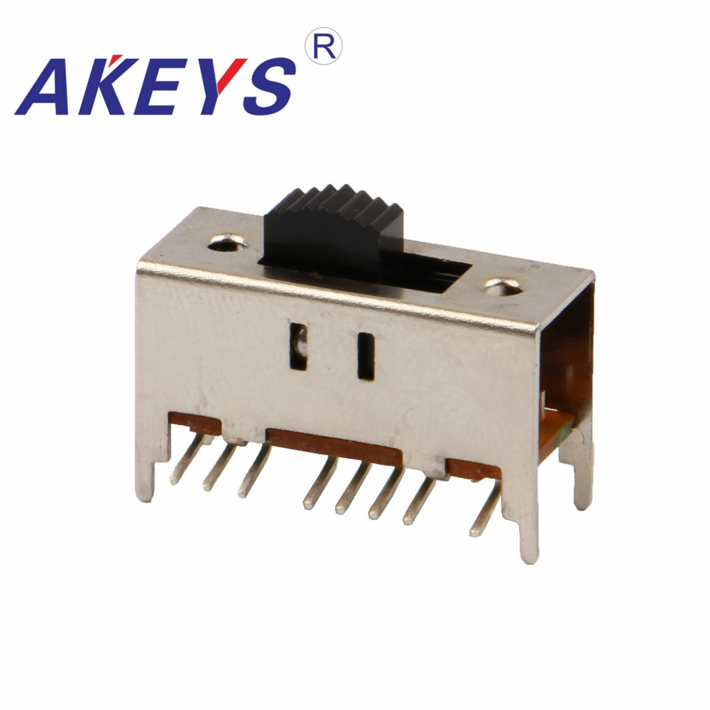In Quality Ss-43d10 4p3t Four Pole Three Throw 3 Position Slide Switch 16 Pin Dip Type With 4 Fixed Pin Handle Heights Can Be Customized Excellent