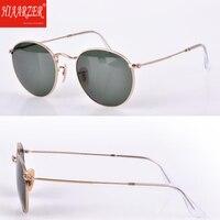High Quality Glass Lens Round Sunglasses Women Men Luxury G15 Sunglasses Driving Ladies Pink Mirror Sun Glasses Eyewear With Box