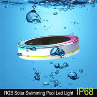 Solar LED RGBW Round Swimming Pool Light Color Changing Pool Pond Floating Lamp Garden Party Decor Light With Remote Controller