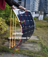 100W Top Rated Semi Flexible Rollable Solar Panels Solar Modules For RV Boat Golf Cart Marine