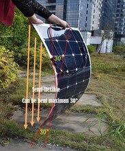 Soarparts 1 100W top rated semi flexible solar panels modules panel solar for Boat Golf cart