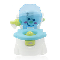 Cute Non Slip Baby Toilet Training Wear Resistant Cartoon Smile Simulation Potty Detachable Seat Safe Multifunctional Kids Soft
