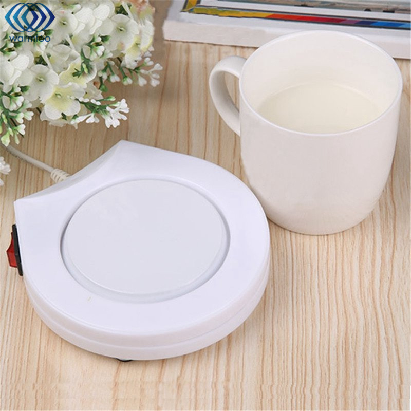 Electric Powered Cup Warmer Heater Pad 220V Hot Plate Coffee Tea Milk Mug US Plug White Household Office