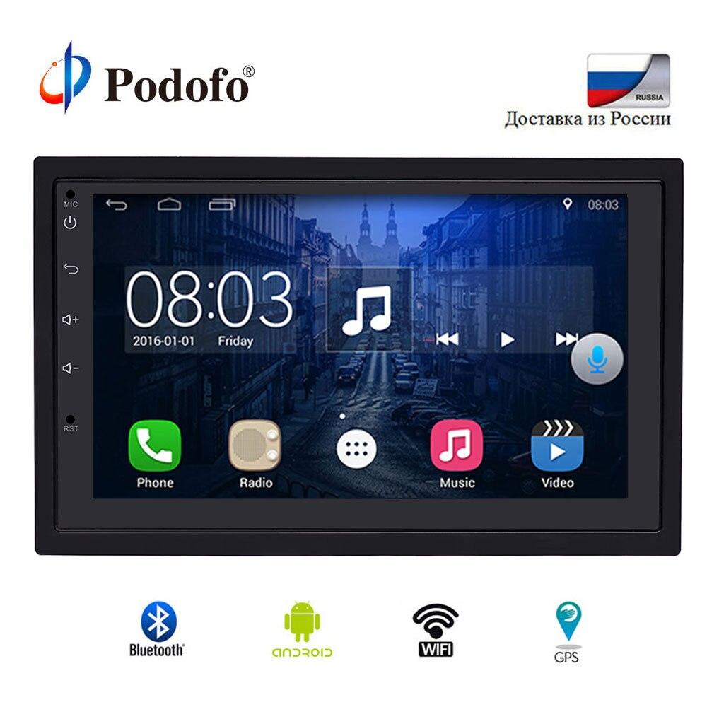 Podofo 2Din автомобиля радио gps навигации Авторадио Android 6,0 Сенсорный экран Wifi автомобильного аудио плеер USB Bluetooth универсальный для Nissan