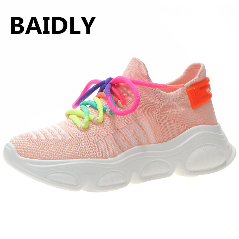 Reasonable Trend Women Breathable Running Shoes Outdoor Jogging Walking Footwear Lightweight Comfortable Sports Sock Shoes Women Sneakers Underwear & Sleepwears