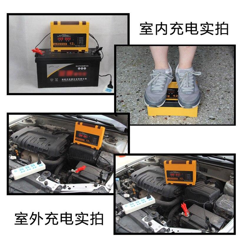 12 V 24 V LCD Digitale Display Volledige Automatische Intelligente Acculader Voor Auto Motorfiets Boot Lood zuur AGM GEL Batterijen 12A - 2
