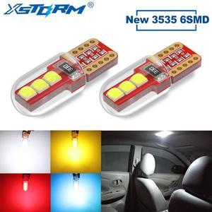 2 шт. T10 W5W Светодиодная лампа WY5W 168 194 6SMD 3535 автомобильный интерьерный светильник с поворотным куполом лампа для чтения номерной знак светиль...