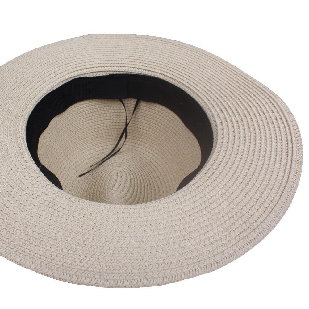 05453a94c0952 Summer Womens Flower Straw Hats Garland Ribbon Floral Cap Wide Brim Sun  Beach Hat Fedora Trilby Hat White Beige Chapeu Feminino-in Sun Hats from  Apparel ...