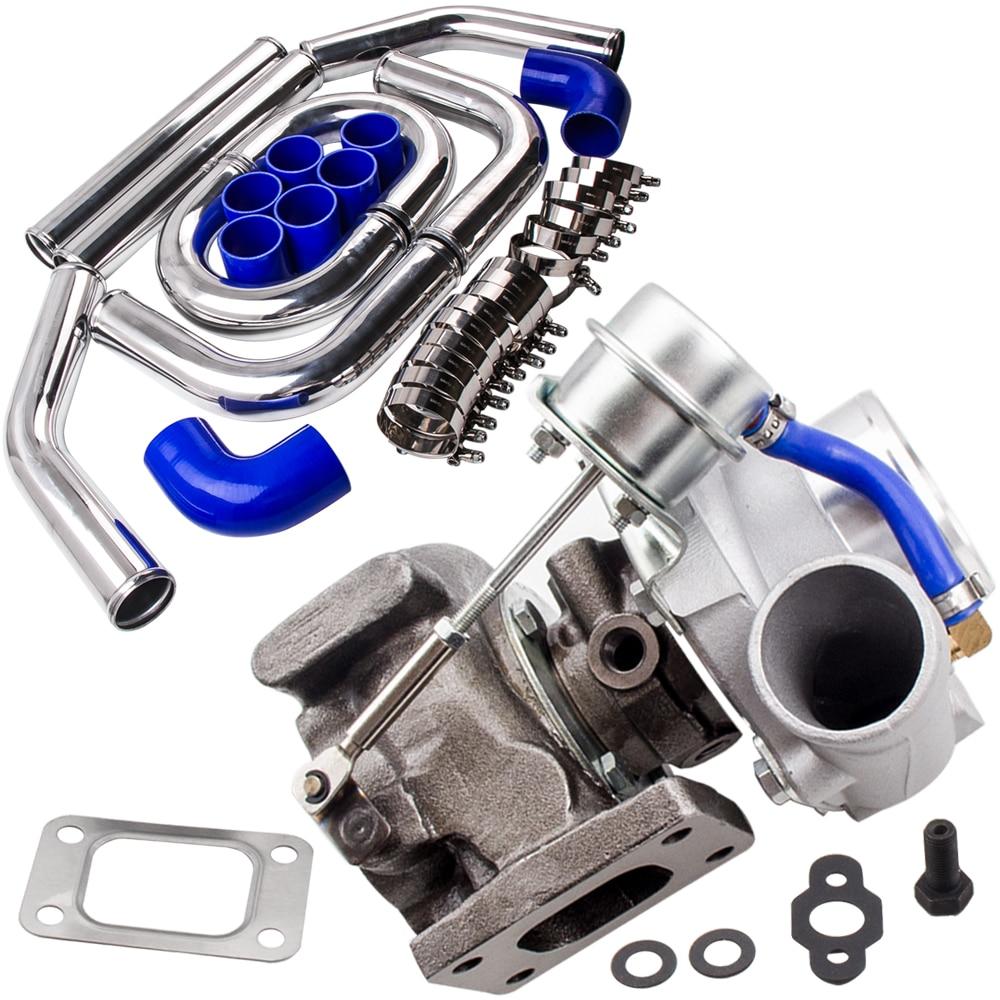 T25 T28 GT2871 Turbo Turbocompresseur + 2.5 pouce 64mm Intercooler Tuyauterie pipe Kits