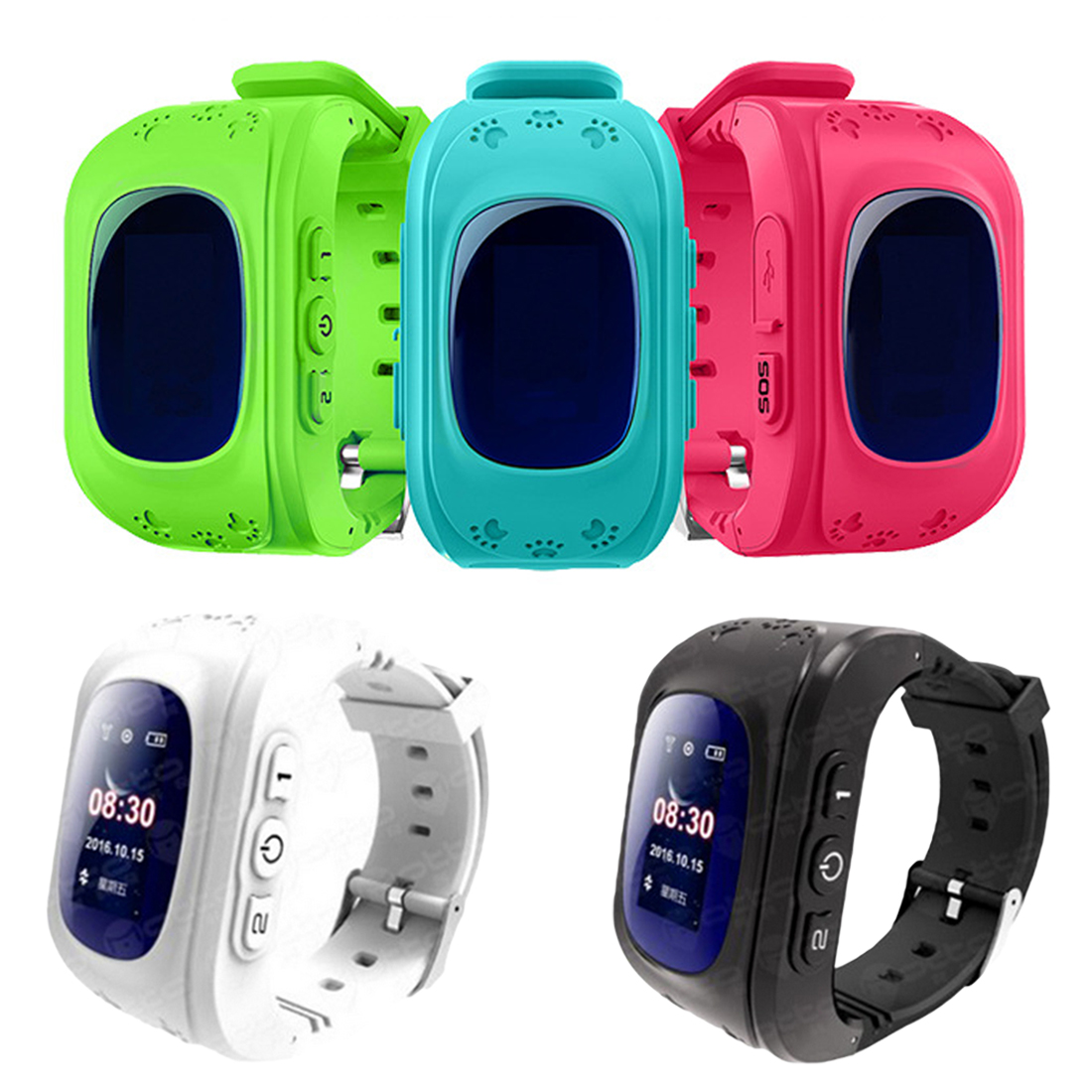 CONTECHIA <font><b>Q50</b></font> GPS <font><b>Kids</b></font> Watches for Children SOS Call Location Finder Locator Tracker Anti Lost Monitor <font><b>Smartwatch</b></font> image