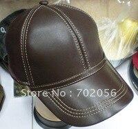 De chèvre En Cuir Baseball CAP Avec Sangle Réglable Élégant Oreille Chapeau Chaud #2267