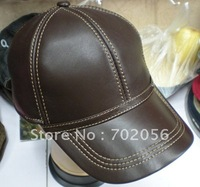 Keçi Deri Beyzbol Şapkası Ayarlanabilir Askı Şık Şapka Kulak Isıtıcı #2267 Ile