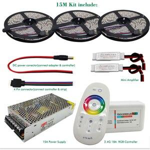 Image 2 - 5050 RGBW/RGBWW مرنة LED قطاع مجموعة مع 2.4G اللمس جهاز التحكم عن بُعد بالتردادات الرادوية/ اللاسلكية 12 فولت موائم مصدر تيار + مكبر للصوت 5 متر/10 متر/15 متر/20 متر