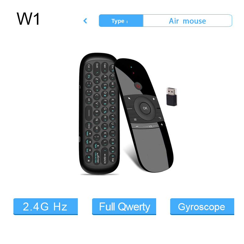W1 Keyboard Mouse Wireless 2.4G Fly Air Mouse Rechargeble Mini W1 Remote Control For Android Tv BoxMini PcTv