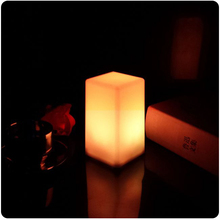 LED Colorful Changing Mood Cubes Night Glow Lamp Light Gadget Gizmo Home Decor Romantic Lighting Free Shipping 1pc