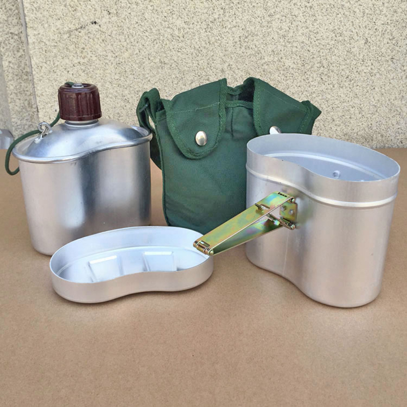 Classic 78 type multifunctional military kettle pot Outdoor mountaineering camping Restoring tableware 1 l take lunch