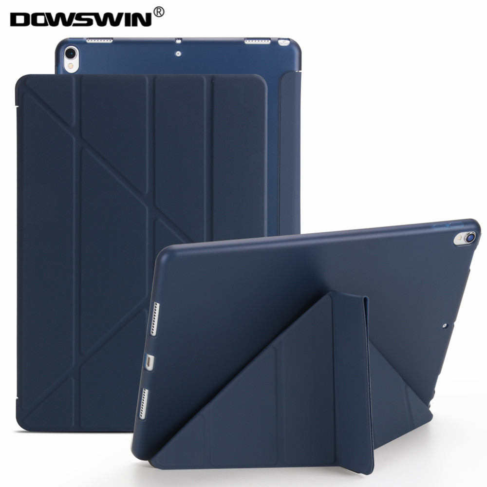 for iPad 10.5 pro case,Dowswin PU leather Smart Cover for ipad pro with transparent TPU back stand flip case for ipad pro 10.5 smart case for ipad mini 4 case transformer folding with stand slim pu leather transparent back cover for ipad mini4 7 9