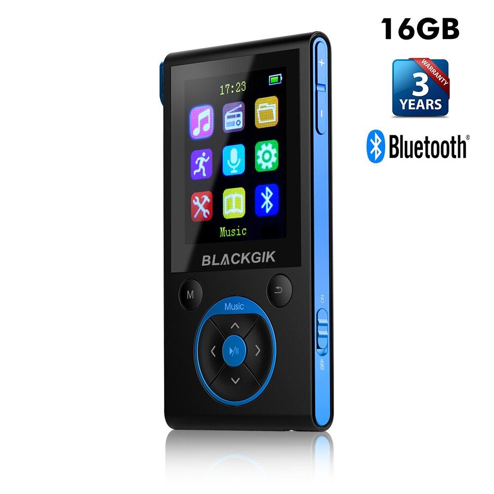 16 gb MP3 Lecteur Bluetooth HiFi Numérique MP3 Lecteur de Musique Sans Perte Mini Portable Lecteur MP3 Autoradio FM Radio Podomètre
