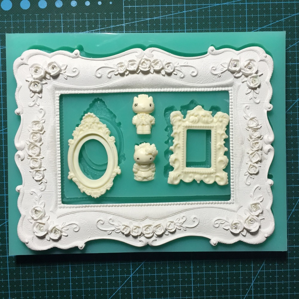 Frame Silicone Rubber Flexible font b Food b font Safe Mold Mould resin chocolate silicone clay