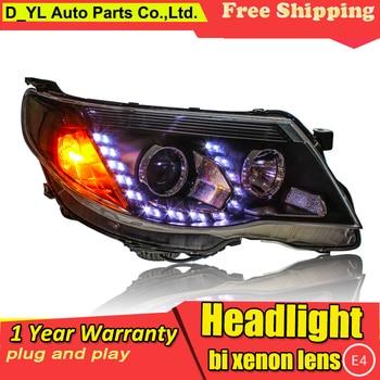 Car Styling Headlights for Forester 2008-12 LED Headlight for Forester Head Lamp LED Daytime Running Light LED DRL Bi-Xenon HID