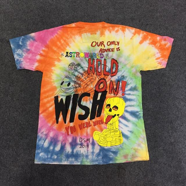 Travis Scott Astroworld Tour Astronaut Tee Tie dyeing Astrworld T-shirt Men Women Streetwear Hip Hop ASTROWORLD Tshirt top tees