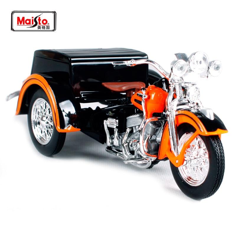 Maisto 1:18 1947 Harley Servi-bil MOTORCYCLE BIKE Modell GRATIS FRAKT 32420