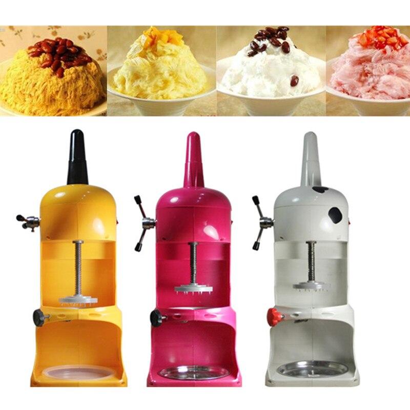 2016 hot sale electric continuous ice machine ice shaver machine ice crusher block shaving machine