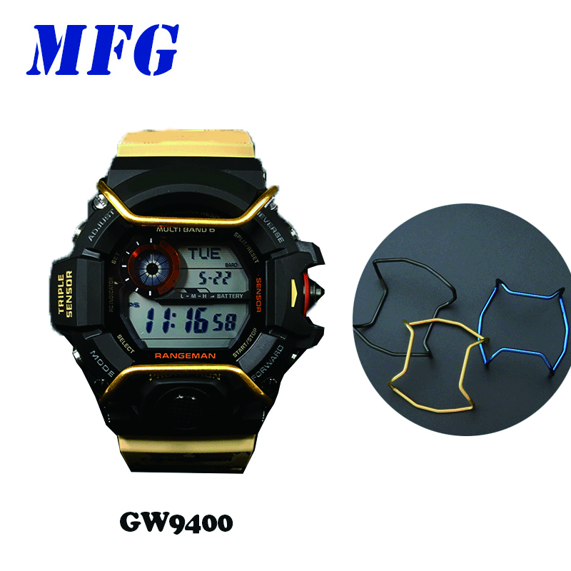MFG <font><b>GW</b></font>-<font><b>9400</b></font> Watch Case Protection Ring/ Watch Case Bumper Accessorie for Casio Gshock Metal Stainless Steel Gift for Men / Women image