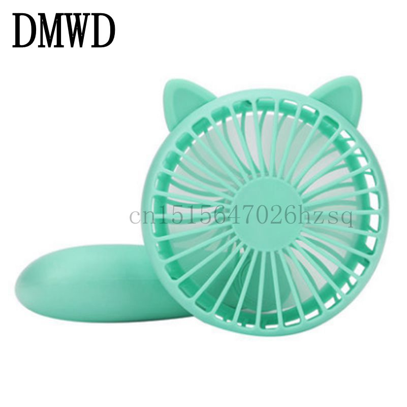 DMWD Electric mini household  Fans chargeable portable USB students Fan for travel dormitory office,5 colors 220v 600w 1 2l portable multi cooker mini electric hot pot stainless steel inner electric cooker with steam lattice for students