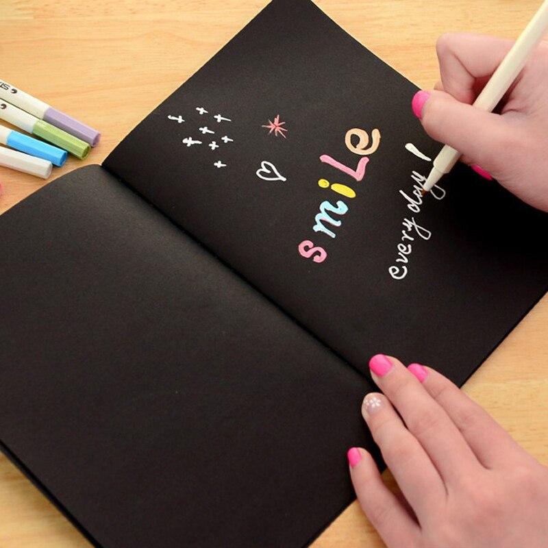 Notebook Sketchbook Diary Ritning Måleri Graffiti Svartpapper - Block och anteckningsböcker - Foto 5