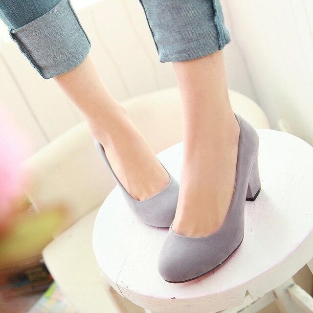 Новый 2017 весна женская обувь насосы платформы толстый каблук каблуки обуви женщина теннис feminino дамы повседневная обувь большого размера 34-43