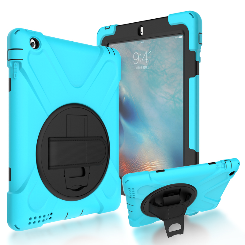 Case For Apple iPad 2 3 4 New shell , YRSKV Safe Kids Armor At Soft Shockproof Silicone + Hard Cover armor heavy duty case for apple new ipad 9 7 2017 a1822 cover funda tablet kids safe shockproof silicone hard stand hand shell