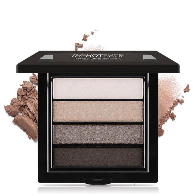 Profesional 4 Colores Combinación Ahumado Mate Paleta de Sombra de Glamour Sombra de Ojos Kit de Maquillaje