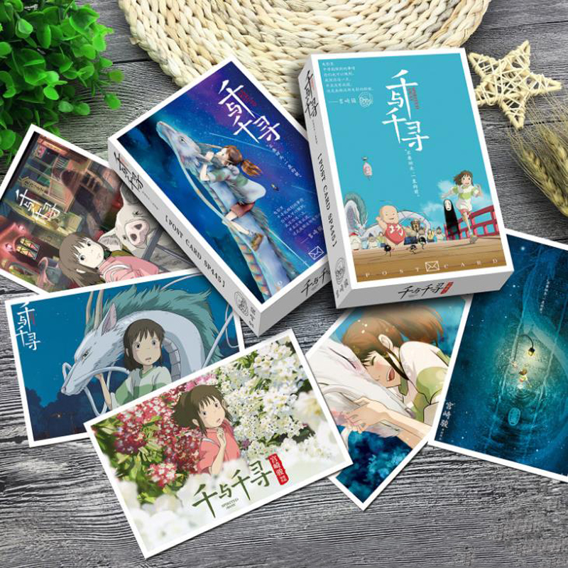36 Pcs/pack Cartoon Japanese Anime Spirited Away No Face Man Greeting Cards Postcard Message Card Gift Stationery