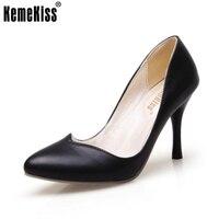 KemeKiss 4 צבעים גודל 32-42 גבירותיי נעליים עקב גבוהות נשים הבוהן מחודדת משאבות מסיבת עקבים דקים לפרוע מועדון משרד נשים Footwears
