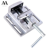 AMYAMY Drill Press Vise For Drill Press Stand Aluminium Alloy Mini Vice Flat Pliers Mini Bench