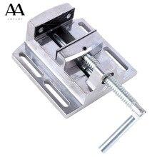 AMYAMY wiertarka imadło do wiertarki stojak ze stopu Aluminium Mini imadło płaskie szczypce Mini ławeczka zacisk naprawa narzędzia 2.5 cala