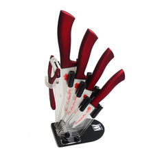 Sechs-Teilig Messer Stand + Keramikmesser + Schäler Küchenmesser XYJ Marke Heiße Verkäufe Weihnachten Serie Werkzeuge beste Küche Geschenke