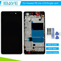 Black Full LCD For Huawei P8 Lite Display Touch Screen Digitizer Glass + Frame Assembly Replacement + Tools Set