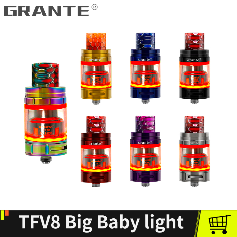 Grante TFV8 Big Baby Light Edition Atomizer TFV8 Big Baby Tank With 5ml Top Filling Tank V8 Baby Coil For SMOK Mag Alien Box ModGrante TFV8 Big Baby Light Edition Atomizer TFV8 Big Baby Tank With 5ml Top Filling Tank V8 Baby Coil For SMOK Mag Alien Box Mod