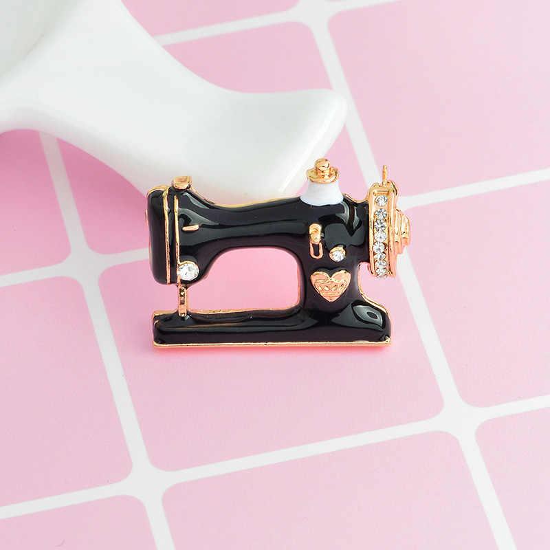 Misananryne Hot Sale Wanita Pria Perhiasan Fashion Bros Pin Palace 2018 Mesin Jahit Baru Kedatangan Berkualitas Tinggi Bros