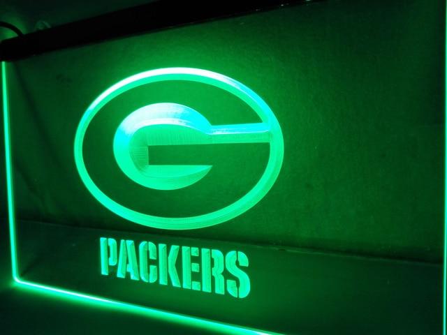 Packer Man Cave Signs : Green bay packers football metal led bar sign man cave nfl ebay