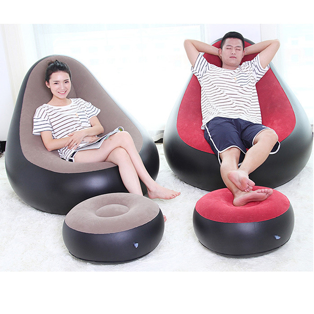 Us 15 19 24 Off Inflatable Chair Ottoman Beanbag Sofa Cushion For Living Room Outdoor Pouf Puff Seat Chair With Inflator Pump In Living Room Sofas