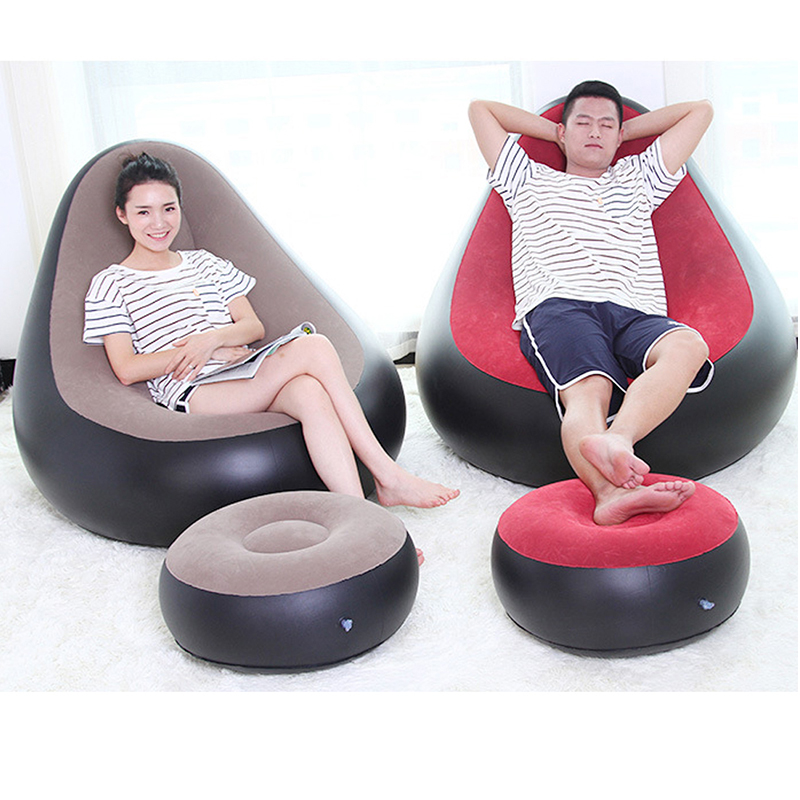 Silla inflable otomano Beanbag sofá cojín para sala de estar al aire libre Puff silla de asiento con bomba infladora