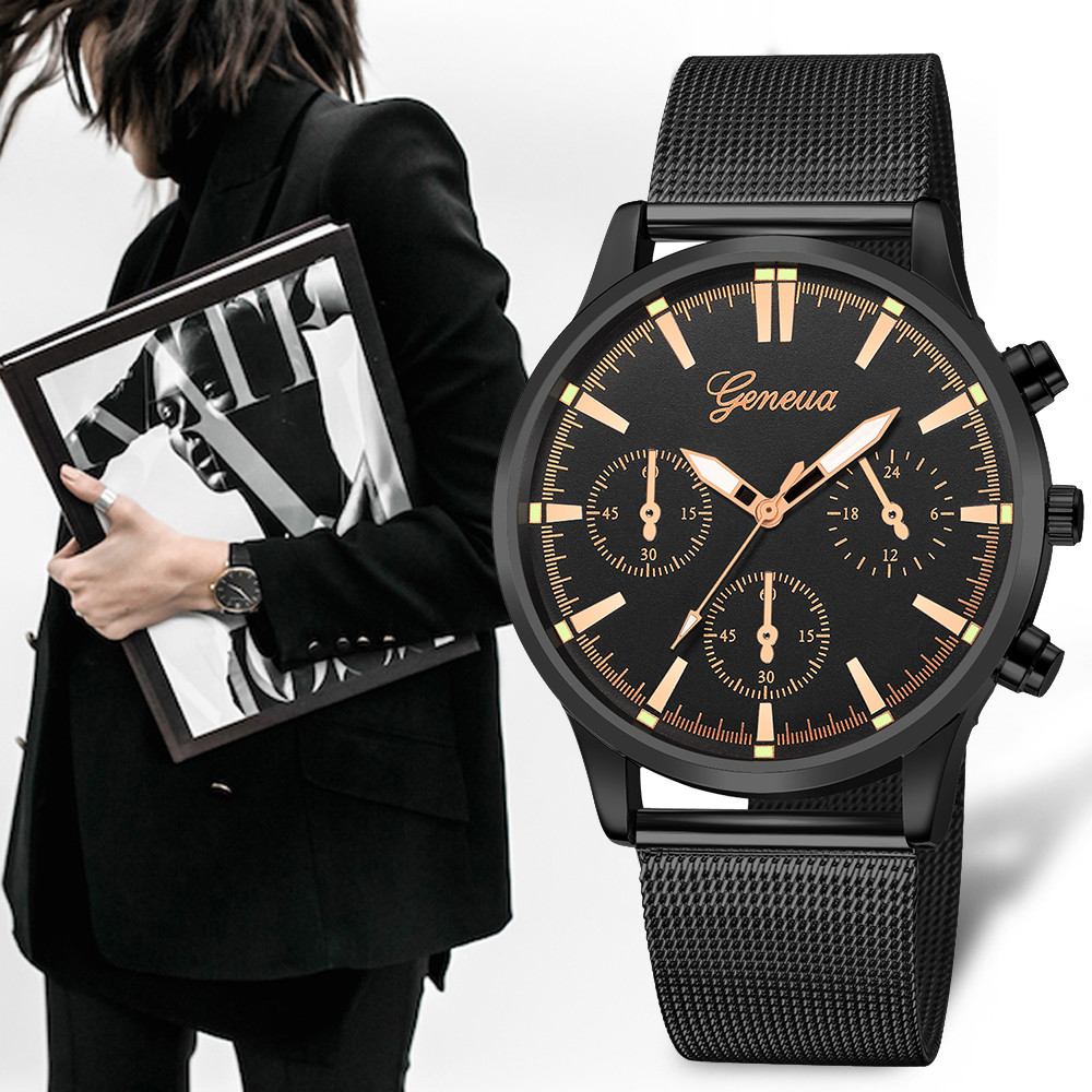 Fashion Geneva Classic Hot Luxury Women Stainless Steel Pointer Analog Quartz Analog Round Wrist Watch Women Clock reloj mujer montre luxury watches women gold stainless steel analog quartz watch ladies fashion geneva wrist watch clock reloj relogio zer