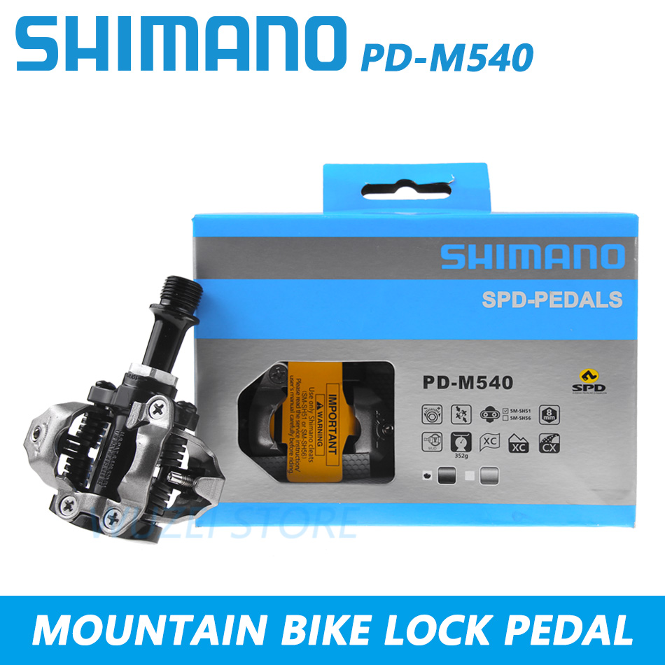w SM-SH51 Cleats SILVER NIB Shimano PD-M540 SPD Off-Road Clipless Pedals