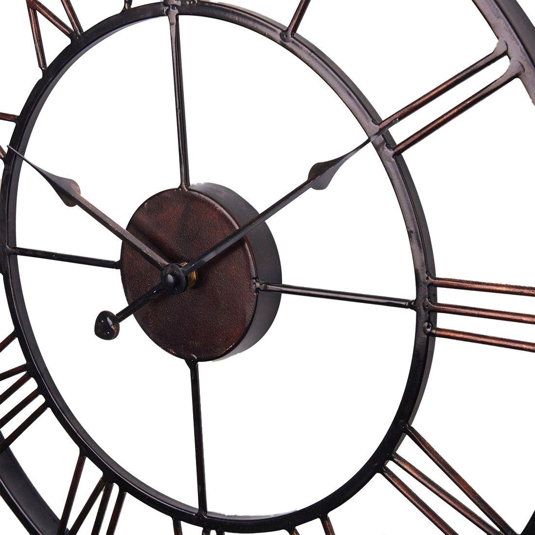 Горячая продажа очень большие винтажные стильные массивные металлические настенные часы в стиле кантри шоколадный цвет-in Настенные часы from Дом и животные on AliExpress - 11.11_Double 11_Singles' Day